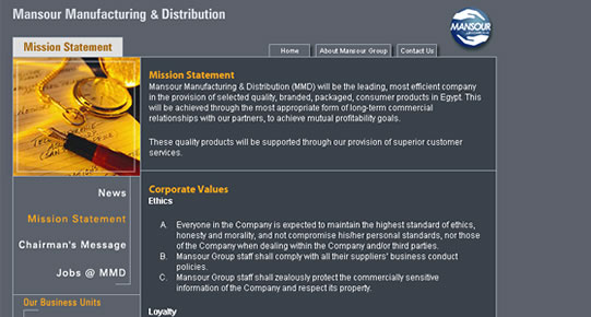 Mansour Manufacturing & Distribution - Inner Page
